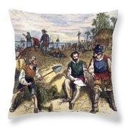 Founding Of St Throw Pillow