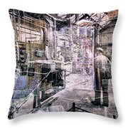 Foundry Workers Throw Pillow
