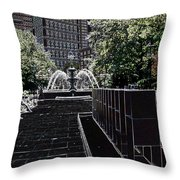 Fountain Abstract Throw Pillow