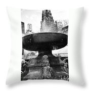 Fountain At Bryant Park Throw Pillow