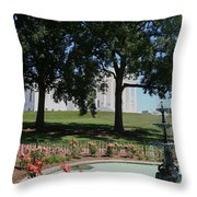 Fountain At Capitol Square  Throw Pillow