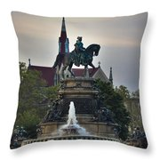 Fountain At Eakins Oval Throw Pillow