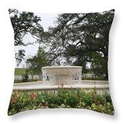 Fountain At Nottoway Throw Pillow