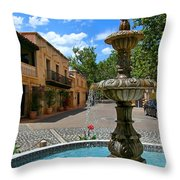 Fountain At Tlaquepaque Arts And Crafts Village Sedona Arizona Throw Pillow