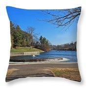 Fountain At Wachusett Dam Throw Pillow