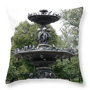Fountain Boston Common Throw Pillow