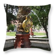 Fountain Cloister St. Marienstern - Germany Throw Pillow