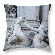 Fountain Di Trevi Throw Pillow