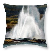 Fountain Geyser Yellowstone Np Throw Pillow