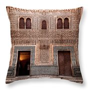Fountain In A Marble Court Throw Pillow