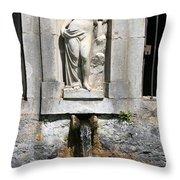 Fountain In A Palace Garden Throw Pillow