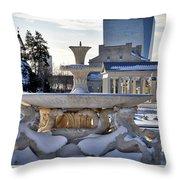 Fountain In Repose Throw Pillow