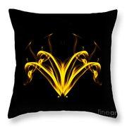 Fountain Of Gold Throw Pillow
