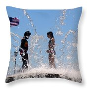 Fountain Of Youth Throw Pillow by Karen Wiles