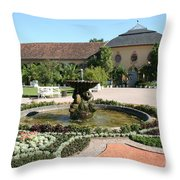 Fountain - Orangery - Belvedere Throw Pillow