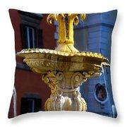 Fountain Piazza Farnese Throw Pillow