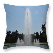 Fountain - Los Angeles County Arboretum And Botanic Garden Throw Pillow