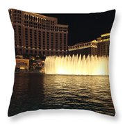 Fountain Vegas Throw Pillow