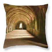 Fountain's Abbey Cellarium Throw Pillow