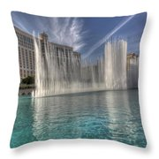 Fountains Of Paradise Throw Pillow