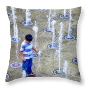 Fountains Of Youth Throw Pillow by Jennie Breeze