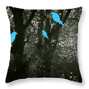 Four Birds Throw Pillow