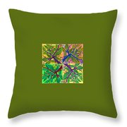 Four Branches By Jrr Throw Pillow