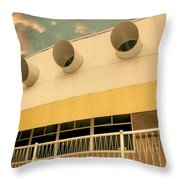 Four By Sea Vintage North Shore Yacht Club Salton Sea Throw Pillow