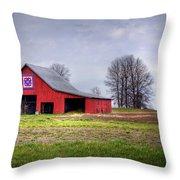 Four Corners Quilt Barn Throw Pillow