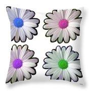 Four Daisy Hibrids Throw Pillow