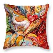Four Elements Fire Throw Pillow by Elena Kotliarker