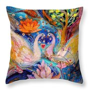 Four Elements Water Throw Pillow