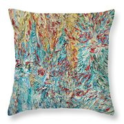 Four Expressionist Cats Throw Pillow