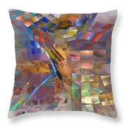 Four Eyes - Square Version Throw Pillow