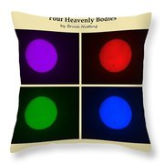 Four Heavenly Bodies Throw Pillow