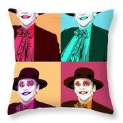 Four Jacks Throw Pillow