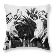 Four Leaping Grecian Dancers Throw Pillow
