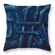 Four Letter Words Throw Pillow