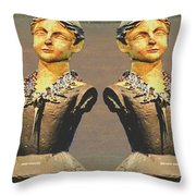 Four Mannequins Two Throw Pillow