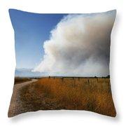 Four Mile Canyon Fire Colorado Throw Pillow