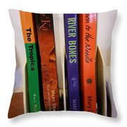 Four Of My Ten Books Published Throw Pillow