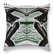 Four Olympic Swimmers 1964 Photomontage Throw Pillow