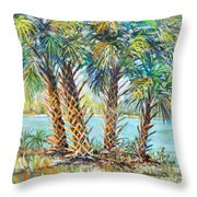 Four Palms Throw Pillow