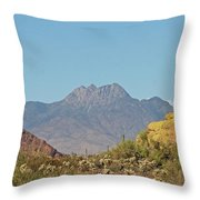 Four Peaks From The Apache Trail Throw Pillow