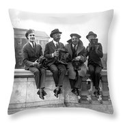Four Photographers Throw Pillow