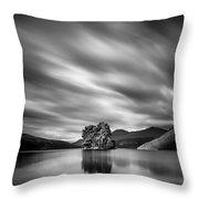 Four Rocks Throw Pillow by Dave Bowman