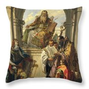 Four Saints Throw Pillow