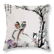Four Seasons In Harmony Throw Pillow