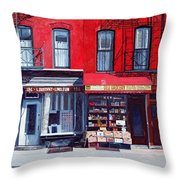 Four Shops On 11th Ave Throw Pillow