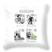 Four Simple Things You Can Do To Save The Planet Throw Pillow